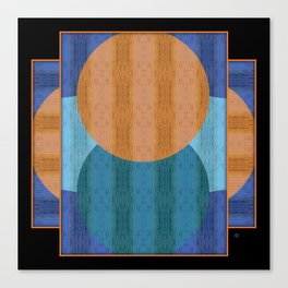 Orange Blues Geometric Shapes Canvas Print