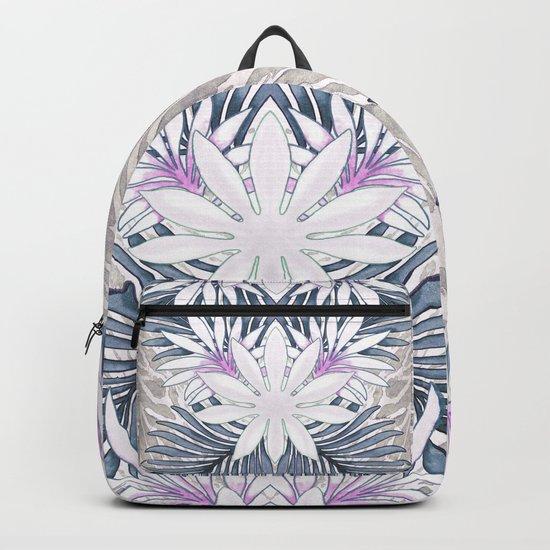 Denim Blooms Forever Backpack