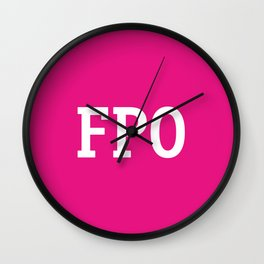 For Placement Only - FPO - Artwork (Pink) Wall Clock