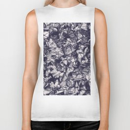 Indigo butterfly photograph duo tone blue and cream Biker Tank