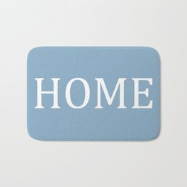 Home word on placid blue background Bath Mat