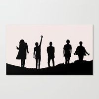 1d Canvas Prints featuring 1D Silhouettes by LithiumCrystal