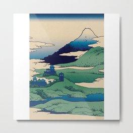 Doctor Who Mount Fuji - Mont Fuji - Tardis Metal Print