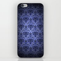 haunted mansion iPhone & iPod Skins featuring Beauty Haunted Mansion Wallpaper Stretching Room by ThreeBoys
