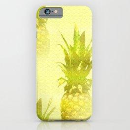 Pineapples Yellow Background #decor #society6 #buyart iPhone Case