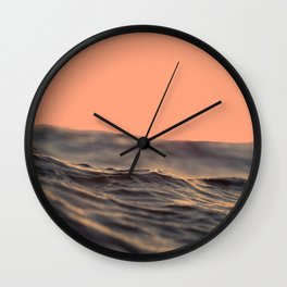 Peach Waves Wall Clock