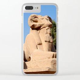 Ram-headed Sphinx in Karnak Temple Clear iPhone Case