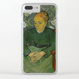 Vincent Van Gogh - La berceuse, Portrait of Madame Roulin Clear iPhone Case