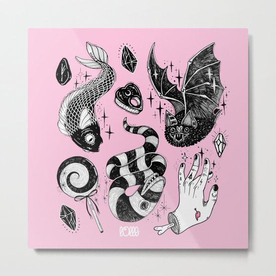 Pink Magic Metal Print