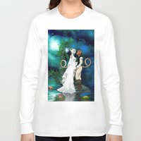 wedding Long Sleeve T-shirts featuring Wedding Day by Simone Gatterwe