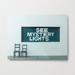 See Mystery Lights - Marfa, West Texas Metal Print