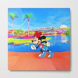 Run Minnie Run Metal Print