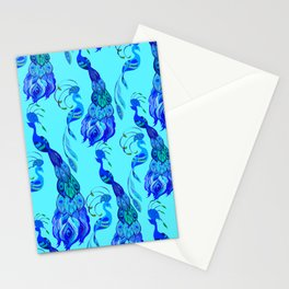Peacock Neck Gator Aqua Blue Peacocks Peacock Feathers Stationery Cards