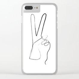 Peace Art Print Clear iPhone Case