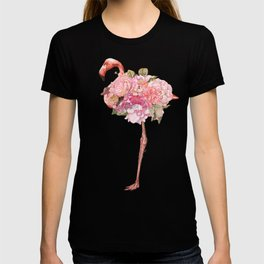 Flamingo with Flowers Crown T-shirt