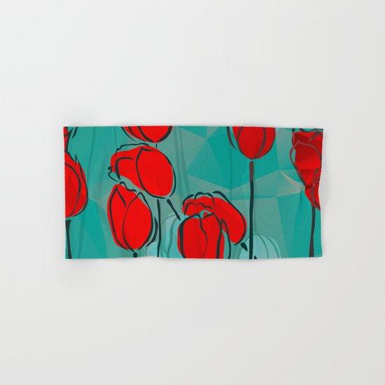 Abstract Tulips Hand & Bath Towel