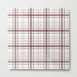 AFE Tartan Pattern2 Metal Print