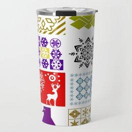 Multi-colored Christmas   #Christmas Travel Mug