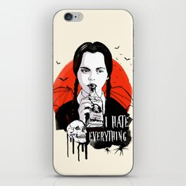 Wednesday The Addams family art iPhone Skin