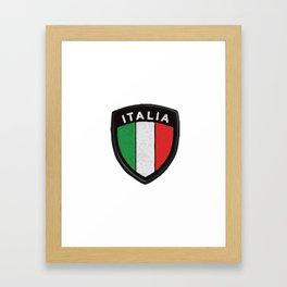 italian hemblem Framed Art Print
