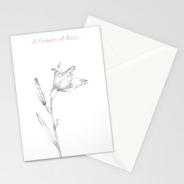 A flower of flour Stationery Cards