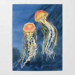 Dancing of Jellyfish Poster