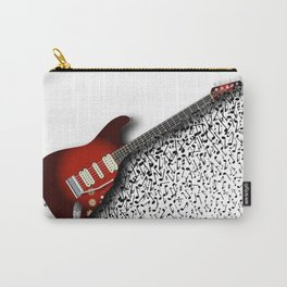 Musical Guitar Background Carry-All Pouch