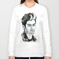 zayn malik Long Sleeve T-shirts featuring Zayn Malik drawing by Clairenisbet