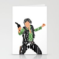 han solo Stationery Cards featuring Han Solo by A Deniz Akerman