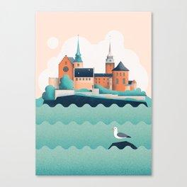 Oslo Akershus Castle Canvas Print
