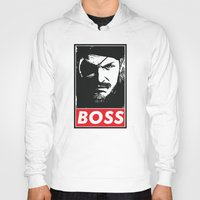 metal gear solid Hoodies featuring Big Boss - Metal Gear Solid by TxzDesign