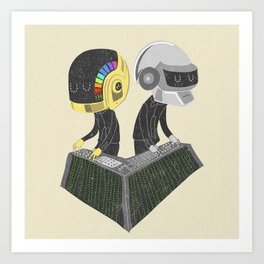 DaftPunk Art Print