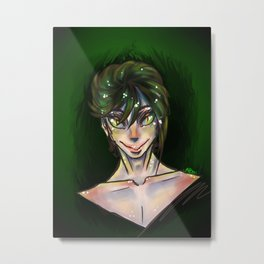 Green Watercolor boy Metal Print