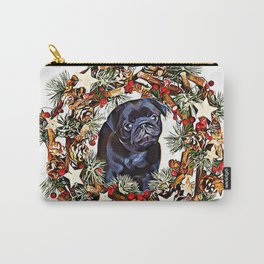 Christmas pug puppy Carry-All Pouch