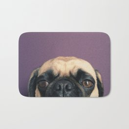 Lurking Pug Bath Mat
