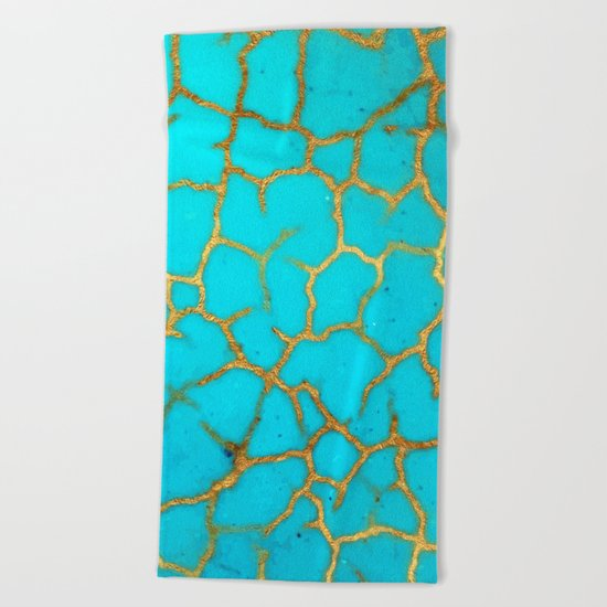 Turquoise Stone Beach Towel