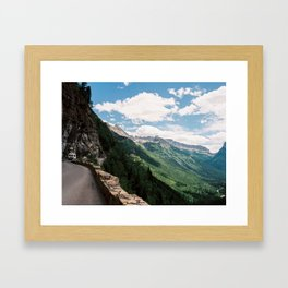 Going to the sun road  Framed Art Print