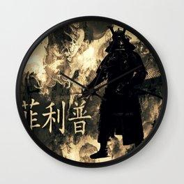 Honor of the Samurai Wall Clock