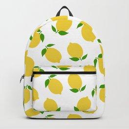 LEMON LEMONS FRUIT FOOD PATTERN Backpack