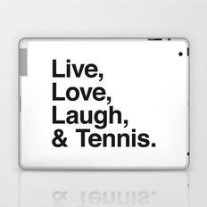 Live Love Laugh and Tennis Laptop & iPad Skin