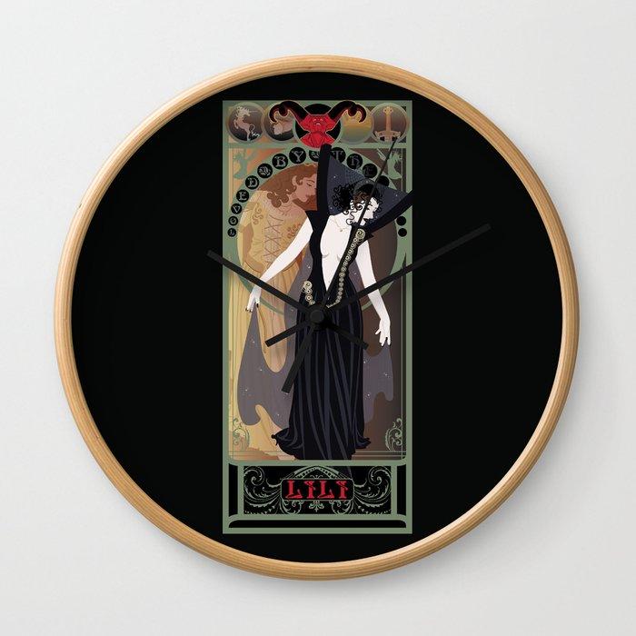 Dark Lili Nouveau - Legend Wall Clock