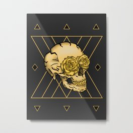 Golden Skull composition  Metal Print