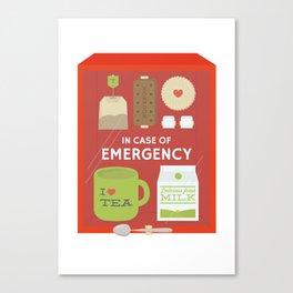 Emergency Tea Canvas Print