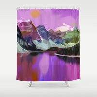 river Shower Curtains featuring River by Asya Solo