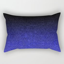 Blue & Black Glitter Gradient Rectangular Pillow