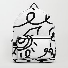 Crashing Waves - Black and White Backpack