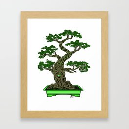 Mr. Bonsai Framed Art Print