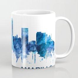 Amarillo Texas Skyline Blue Coffee Mug