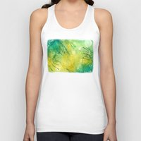 lime green Tank Tops featuring Watercolor Lime by MadC Productions