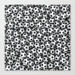Soccer balls Canvas Print